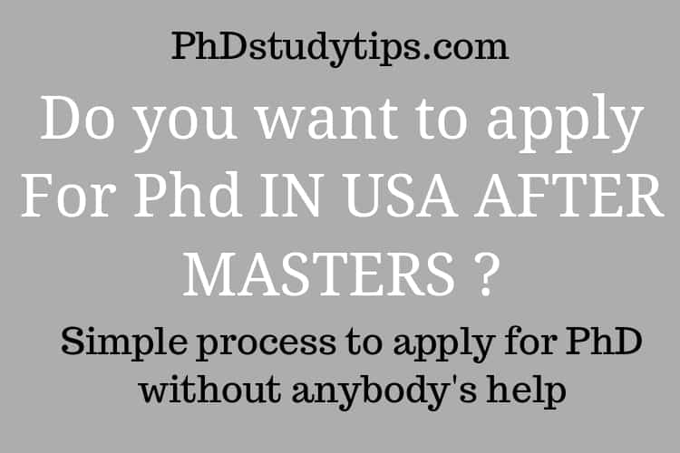 Apply PhD USA Process