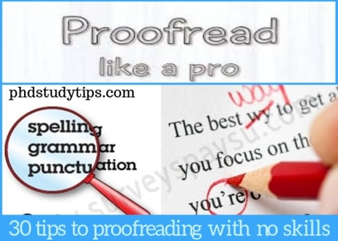 how to proofread professionally