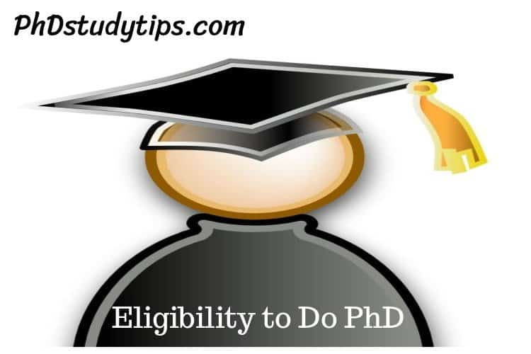 Eligibility to do PhD in India