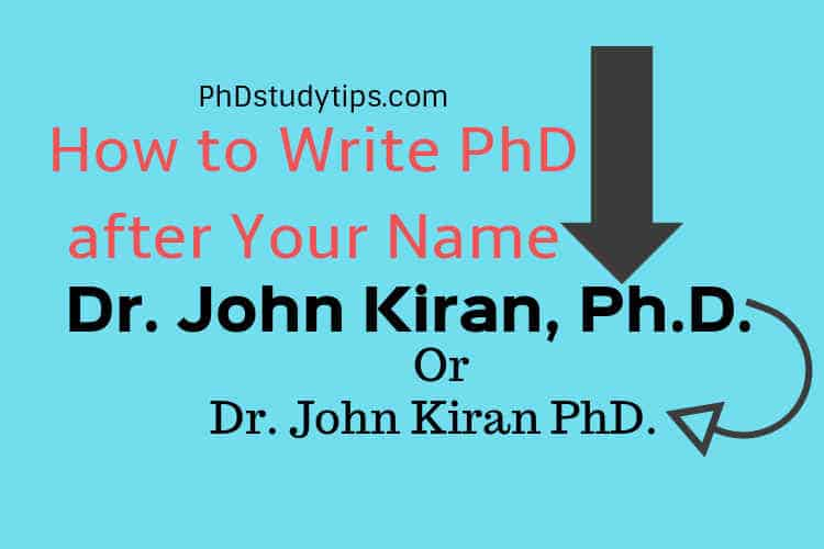 How to Correctly Write PhD After Your Name as a Title