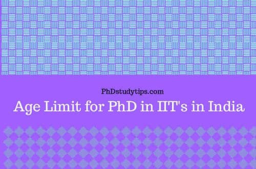 age limit for phd in iit