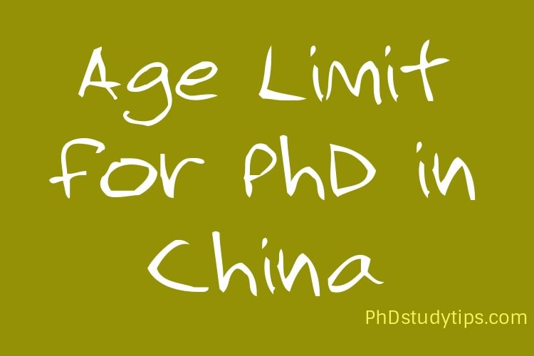 Age Limit for PhD in China